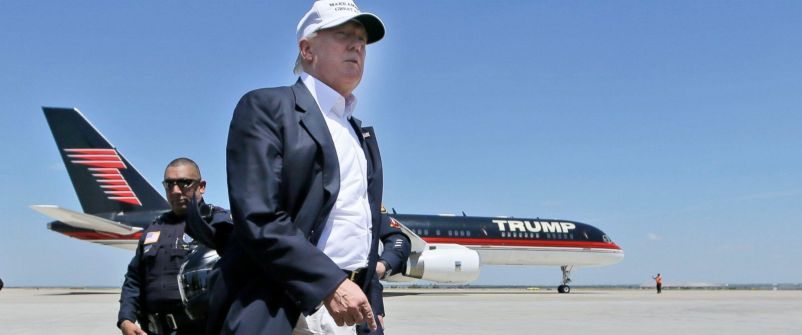 Trump with plane